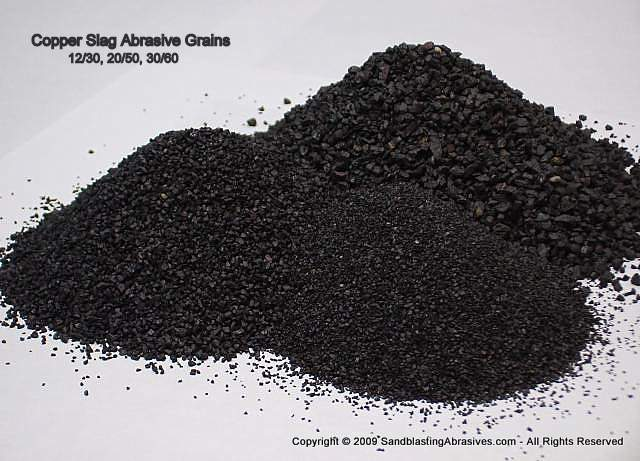 Slag Cement Grade : Sandblast media grits abrasives for surface preparation