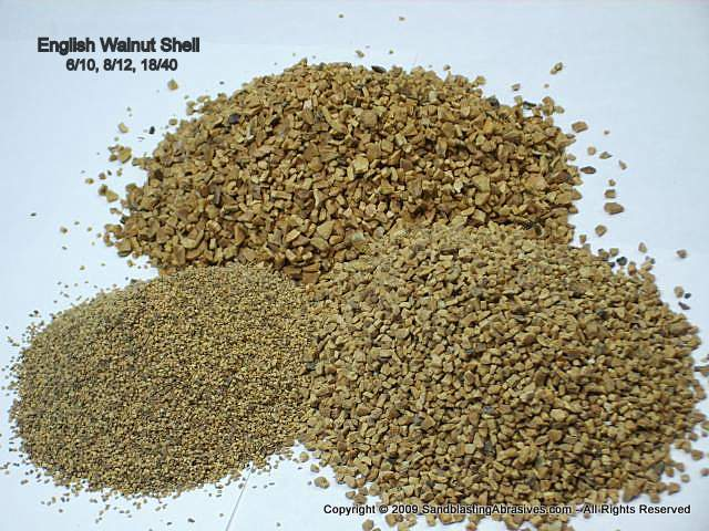 Walnut Shell, Common Antiskid Grades