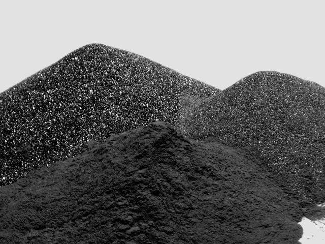 Coal Slag Rock : Silicon carbide abrasives black and green sic