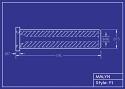 Boron Carbide Sandblasting Nozzle: Flanged: You Pick Bore Size & Length
