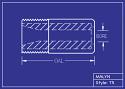 """Boron Carbide Sandblasting Nozzle: You Pick Bore Size. T5 Series, 2.0"""" Overall Length"""