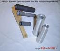 "Boron Carbide Sandblasting Nozzle Insert: INSERT  7/8"" OD - VENTURI WIDE SPRAY"