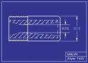 "Boron Carbide Sandblasting Nozzle: You Pick Bore Size. T4 Short Venturi Series, 2.0"" Overall Length"