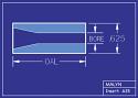 """Boron Carbide Sandblasting Nozzle Insert: INSERT 5/8"""" OD - STRAIGHT BORE"""
