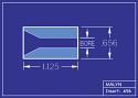 """Boron Carbide Sandblasting Nozzle Insert: INSERT 21/32"""" OD - STRAIGHT BORE"""