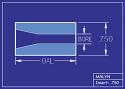 """Boron Carbide Sandblasting Nozzle Insert: INSERT 3/4"""" OD - STRAIGHT BORE"""