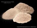 Aluminum Oxide White Fused Sandblasting Abrasive, Fine Grades 280 through 1200, 25lb box or more