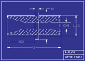 """Boron Carbide Sandblasting Nozzle:  F5 Venturi Mid Flange, OAL: 3.0"""" You Pick Bore Size"""