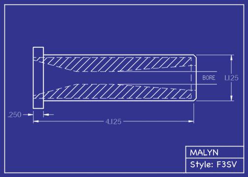 Boron Carbide Short Venturi Sandblasting Nozzle: Short Venturi F3 & F4 Series, You Pick Bore Size