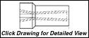 "Super Titan Tungsten Carbide Sandblasting Nozzles VNSV: 1.25"" - 11.5 NPSM - VENTURI"