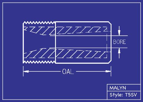 "Boron Carbide Sandblasting Nozzle: You Pick Bore Size. T5 Short Venturi Series, 2.0"" Overall Length"