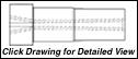 Super Titan Tungsten Carbide Sandblasting Nozzles VNLM: 50mm THREAD - VENTURI