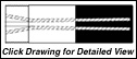 "Super Titan Tungsten Carbide Sandblasting Nozzles SERIES VNLP: 1.25"" - 11.5 NPSM - VENTURI - POLYURETHANE COATING"