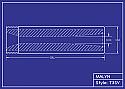 Boron Carbide Sandblasting Nozzle: Short Venturi T3 Series, You Pick Bore Size, Many Lengths