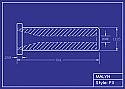 "Boron Carbide Sandblasting Nozzle: Flanged: Straight Bore - 1-1/2"" Flange, Multi-Lengths & Bores"