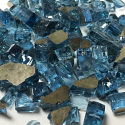 Reflective Glass Chips for Fireplace