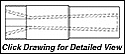 "Super Titan Tungsten Carbide Sandblasting Nozzles V25T: 1.25"" - 11.5 NPSM - 1.25"" ENTRY VENTURI"